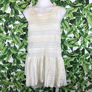 Intimately Free People Cream Lace Tunic